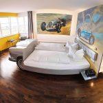 Tower Suite at V8 Hotel in Stuttgart.