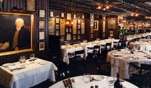Keens Steakhouse in NYC is a great place with classic atmosphere.