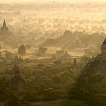 Sunrise over Bagan, Myanmar.