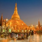 Schwedagon Pagoda in Yangon, Myanmar are one of the destinations on this trip.