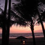 The view from the beach villa at dusk at Sandoway Resort, Ngapali.