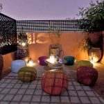 Roof top bar at one of the riads in Marrakech.