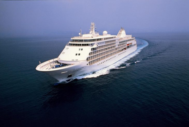 Silver Whisper at sea.