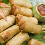 Fresh Thai spring rolls.