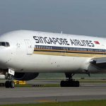 Singapore Airlines Boeing 777-300ER taxiing.