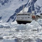 Cruise ship in Antarctica.