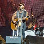 Lenny Kravitz on stage.