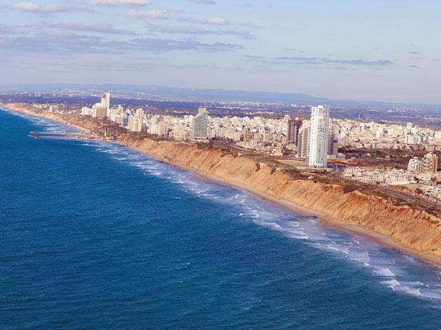 Tel Aviv beachfront.