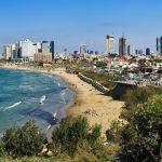Tel Aviv coastline.