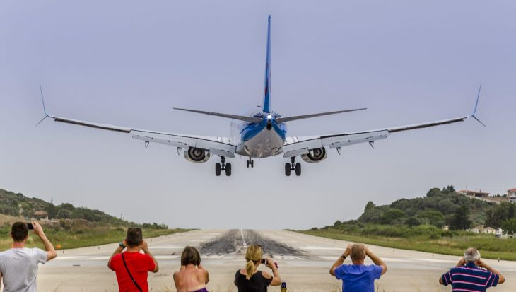 Planespotting in Skiathos, Greece.