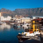 V&A Waterfront in Cape Town with Table Mountain in the background.