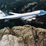 Air Force One over Mt Rushmore. This is probably one of the most well known planes in the world. Photo from Wikipedia.