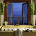 Private dining in spa hut at Pangkor Laut Resort, Malaysia.