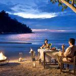 How about a romantic dinner on the beach at Pangkor Laut Resort, Malaysia?