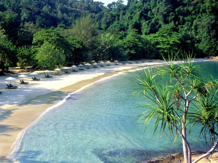 Emerald Bay at Pangkor Laut Resort, off Malaysias west coast.