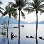 Infinity pool at Royal Bay Beach Club at Pangkor Laut Resort, Malaysia.