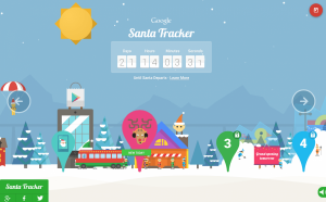 This is a screen shot of Google´s Santa Tracker.