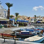 The boardwalk in Agios Nikolaos, Crete.