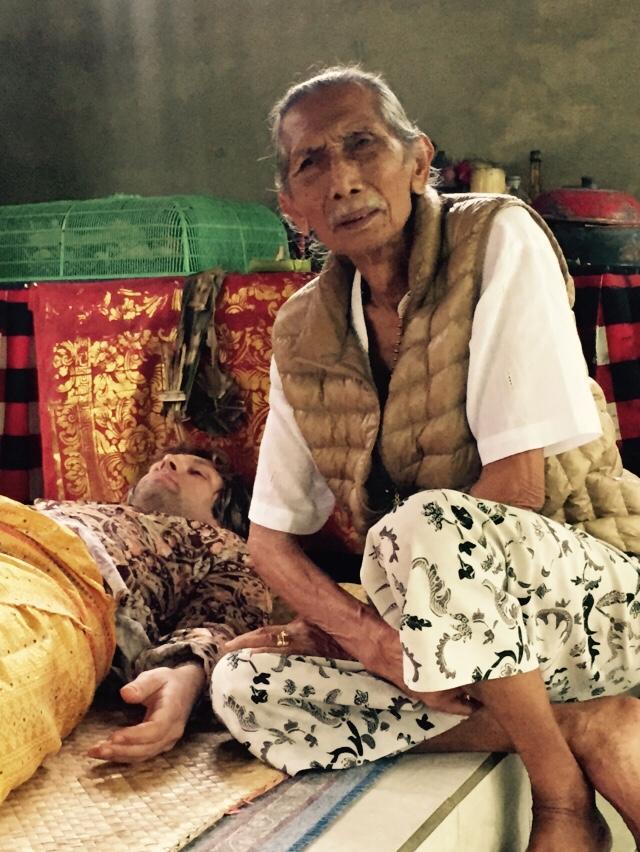 Tjokorda Gde Rai is a healer in Ubud, Bali.