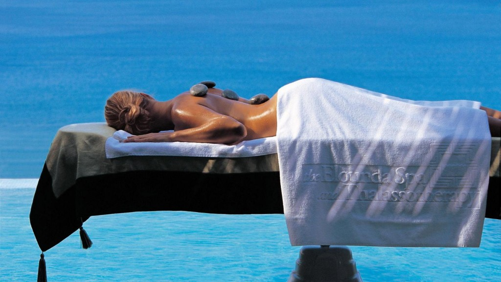 Outdoor signature spa treatment at Blue Palace Resort & Spa.