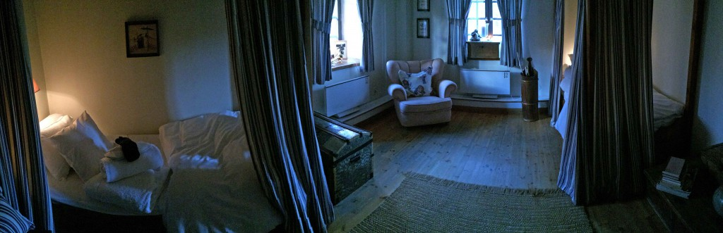 A double room in the main building at Camp Sävenfors