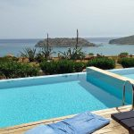 The pool of a maisonette at Blue Palace, Crete.