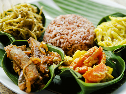 Traditional Indonesian vegetable Curry.