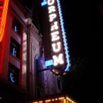 Sign of Orpheum Theatre in Vancouver.