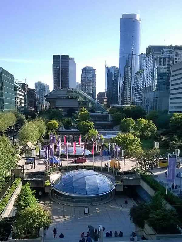 Robson Square in Vancouver.