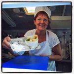 "Chef Birgitta ""Bee"" Andersson is serving delicious Swedish pancakes with a smile and some attitude."