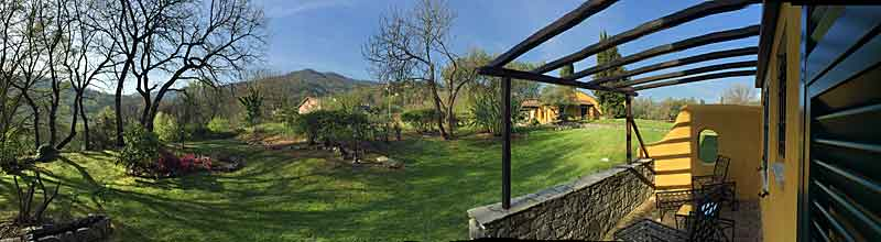 Panorama from one of the rooms at La Meridiana Resort.