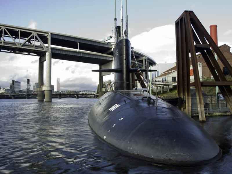 Submarine USS Blueback at Portland OMSI.