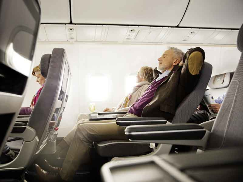 Lufthansa Premium Economy is spacious and comfortable.
