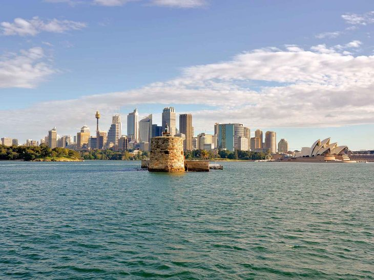 Fort Denison & Sydney skyline.