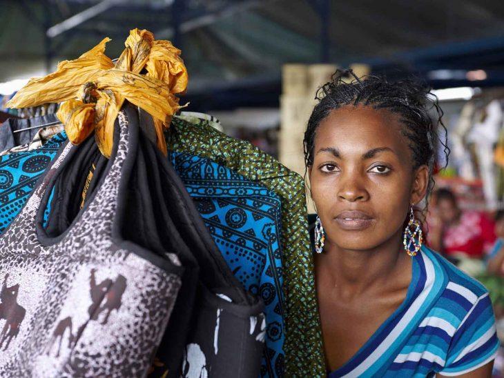 Saleswoman in Kenya.