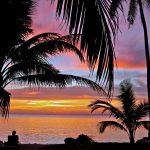 Sunset at Kura Kura Resort in Karimunjawa Islands, Indonesia.