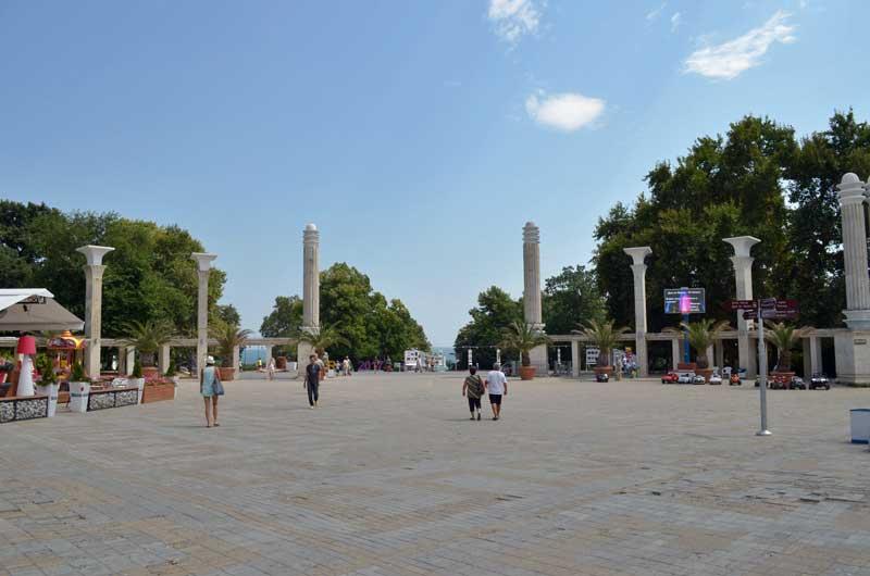 Entrance to Sea Garden in Varna, Bulgaria.