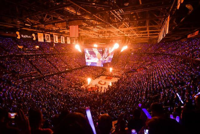 The fiery atmosphere of an NBA match can really get the adrenaline pumping