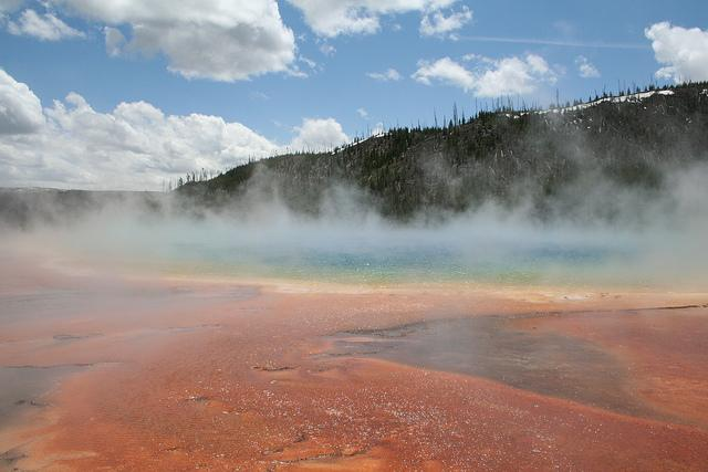 Geothermal areas of Yellowstone are a majestic sight