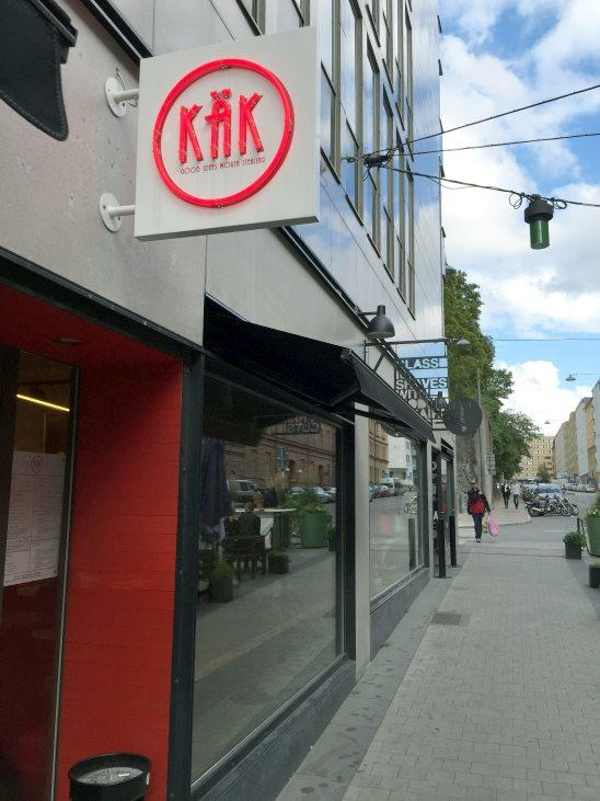 The front at Käk Restaurant Hornstull, Stockholm