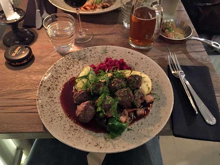 Meatballs Deluxe at Restaurant Meatballs in Stockholm.
