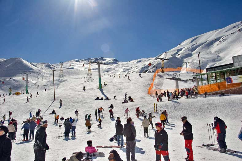 Dizin ski area in Iran.