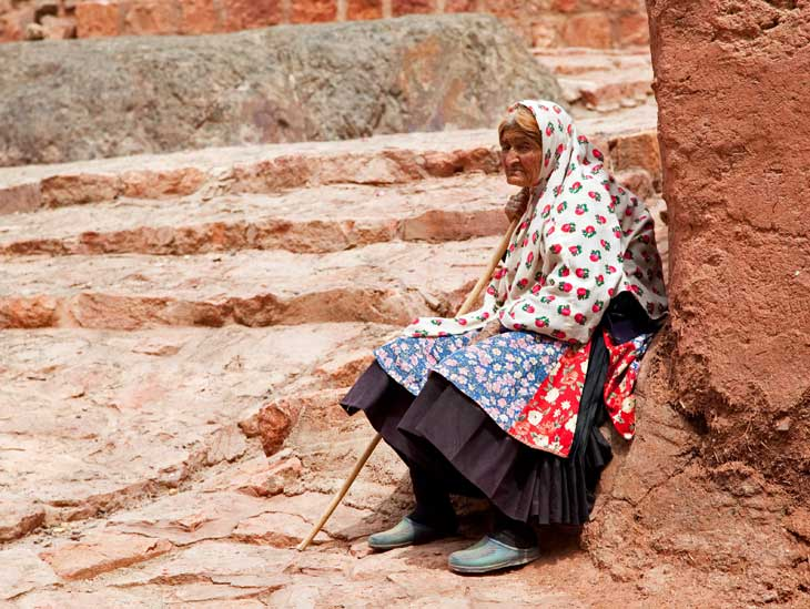 Elderly woman in Abyaneh, Iran.