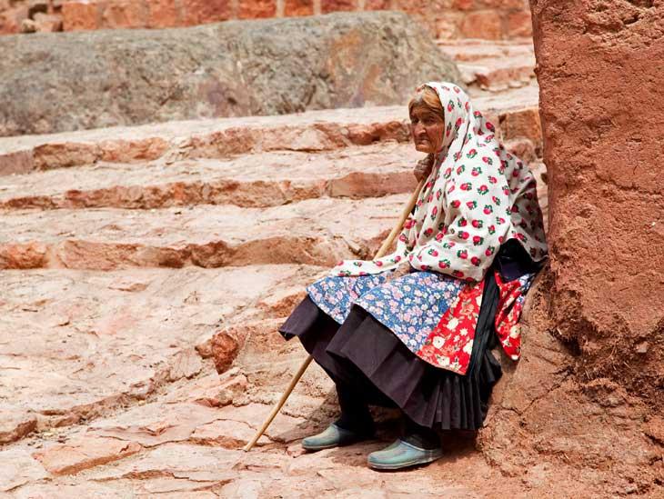 Elderly woman in Abyaneh, Iran.