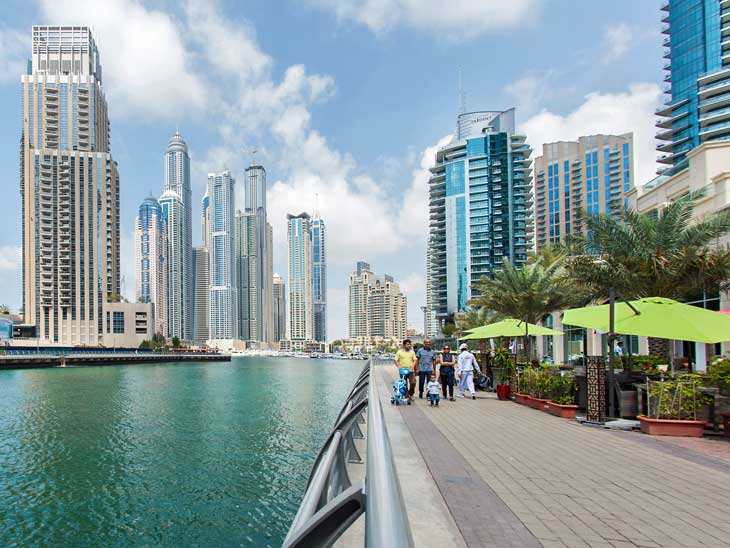 JBR Walk in Dubai.