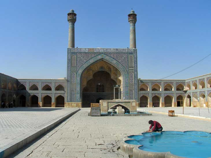 Jamé Mosque in Isfahan, Iran.