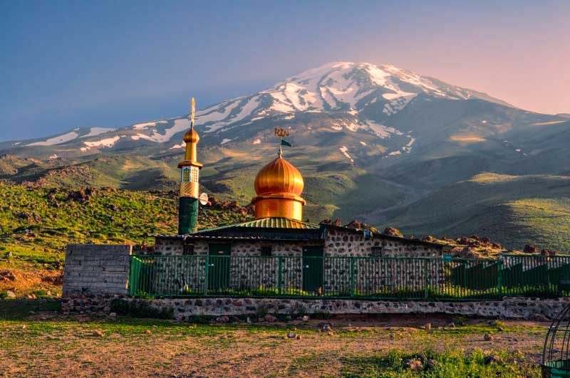 Mosque below Damavand, Iran.
