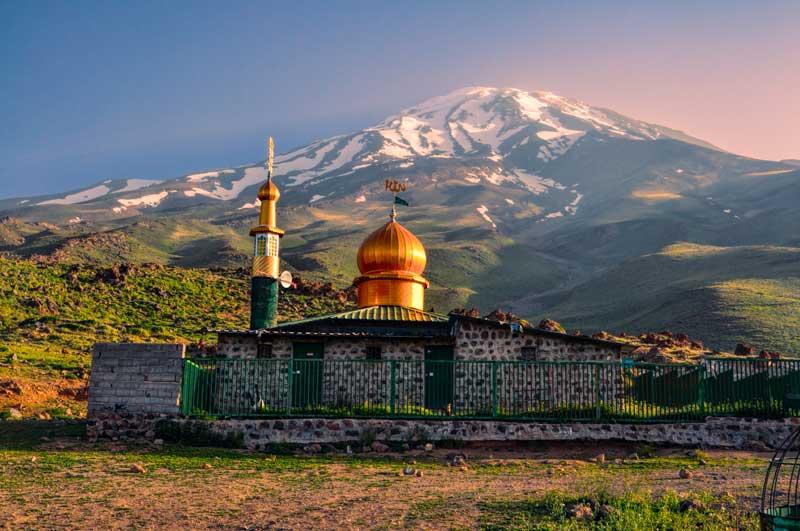 Mosque below Damavand, Iran.