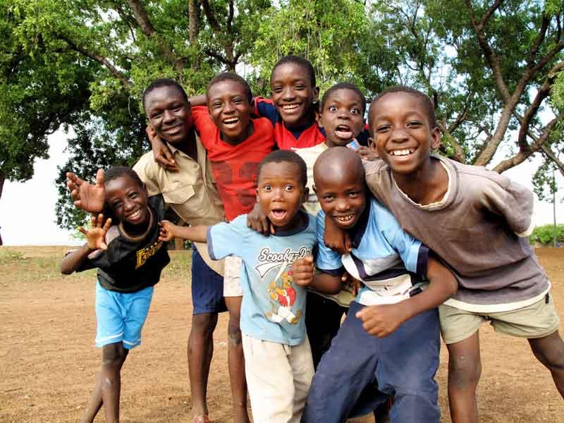 A warm welcome in Ghana.