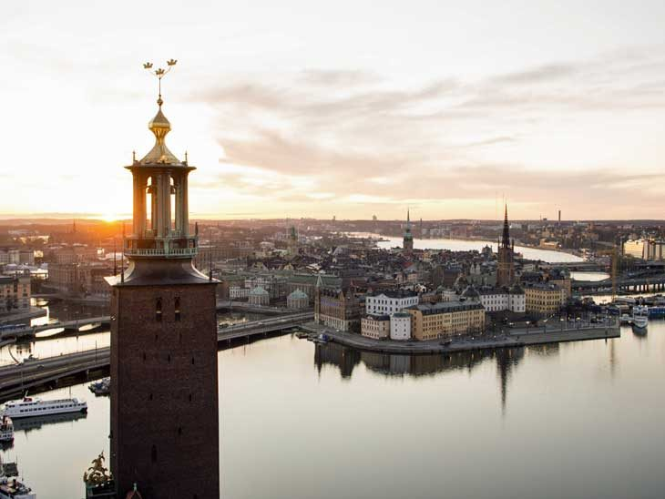 Stockholm City Hall photographed by Björn Olin.